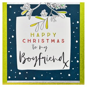 Happy Christmas Boyfriend Card Paperchase Paperchase