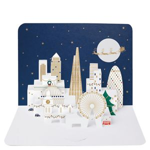 Foiled London skyline Christmas card - pack of 5