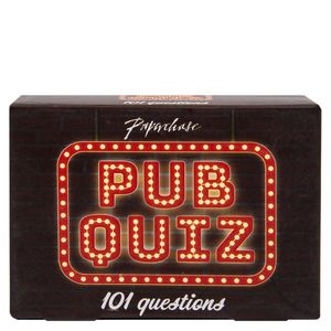 Pub quiz box of trivia questions