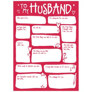 Husband fill in blanks Valentine's card