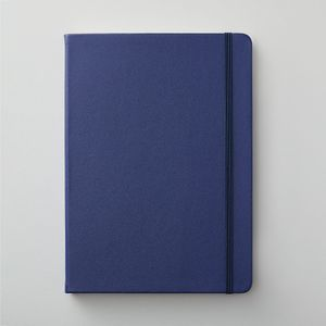 Agenzio hard midnight blue plain large notebook