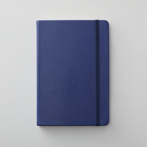 Agenzio hard midnight blue plain medium notebook