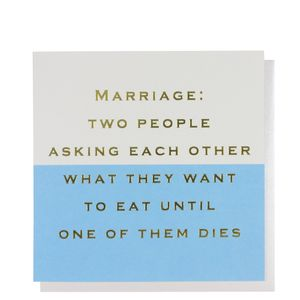 What do you want to eat wedding card
