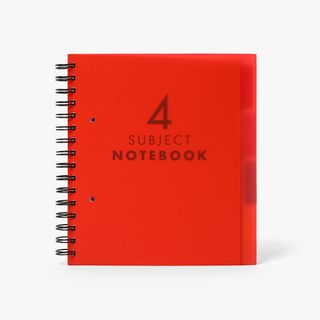 A5 Red 4 subject notebook main image