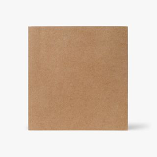 Kraft square cream notebook with plain pages main image