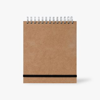 Kraft A5+ plain page wired notebook main image