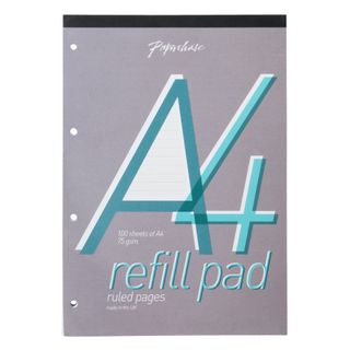 A4 White Ruled Refill Pad  main image