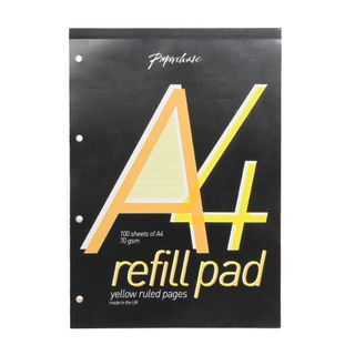 A4 Yellow Lined Refill Pad  main image