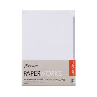 Paperworks hammer white A6 cards and envelopes - pack of 10 main image