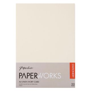 Paperworks linen ivory A4 card - pack of 20 main image