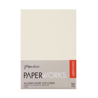 Paperworks linen ivory A6 flat cards - pack of 10 main image