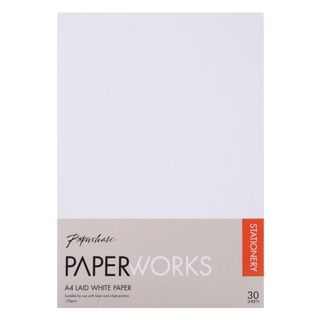 Paperworks laid white A4 paper - pack of 30 main image