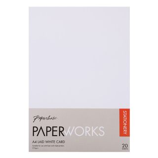 Paperworks laid white A4 card - pack of 20 main image