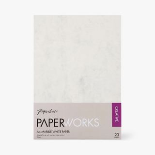 Paperworks marble white A4 paper - pack of 20 main image