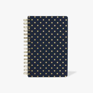 Navy spot lined A5 notebook main image