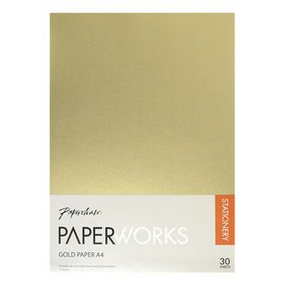 Paperworks A4 gold metallic paper - pack of 30 main image