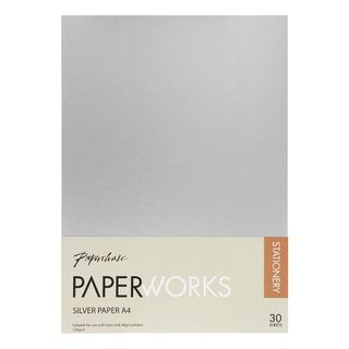 Paperworks A4 silver metallic paper - pack of 30 main image