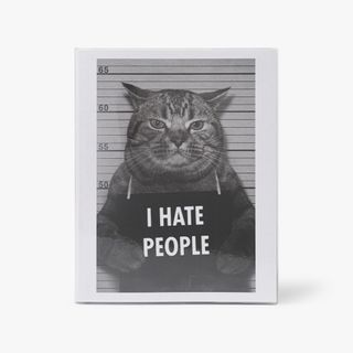 I hate people 8x10 cat lined notebook main image
