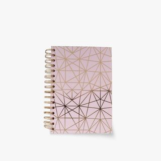 A5 Pink geo lined notebook main image