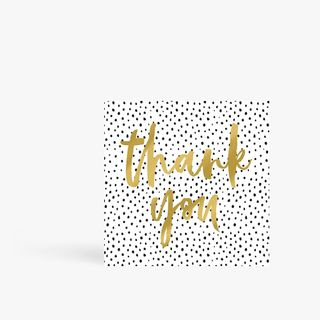 XL Spotty gold thank you card main image