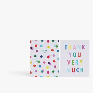 Multi spot thank you cards - pack of 12 main image