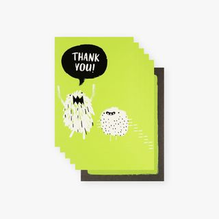 Monster thank you cards - pack of 10 main image
