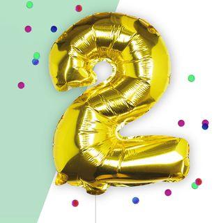 Ginger Ray Number 2 gold 16 inch balloon main image