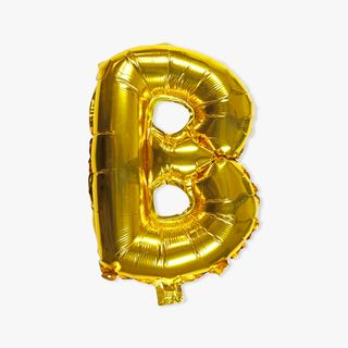 Letter B gold 16 inch balloon main image