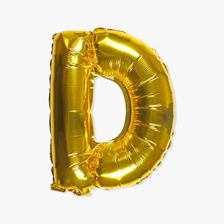 Letter D gold 16 inch balloon main image