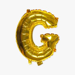 Letter G gold 16 inch balloon main image