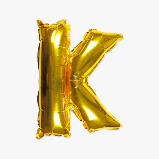 Letter K gold 16 inch balloon main image