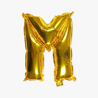 Letter M gold 16 inch balloon main image