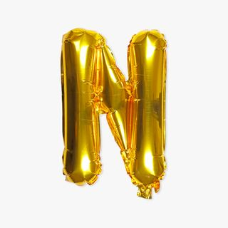 Letter N gold 16 inch balloon main image