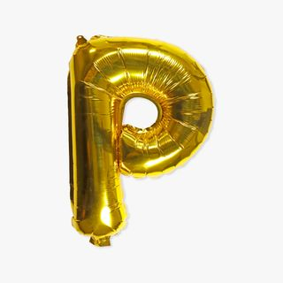 Letter P gold 16 inch balloon main image