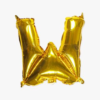 Letter W gold 16 inch balloon main image