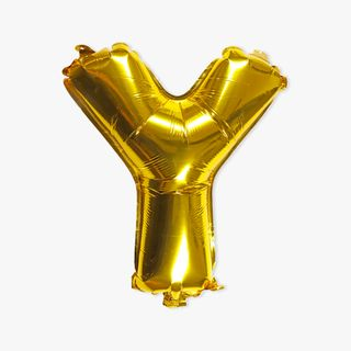 Letter Y golden 16 inch balloon main image