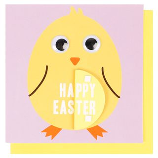 Honeycomb chick Easter card main image