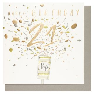 Number 78 21st birthday popper card main image