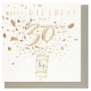 Number 78 30th birthday popper card main image