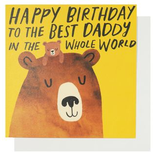 Best daddy in the whole world birthday card main image