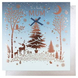 Stag and trees mum Christmas card main image