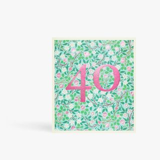 Arts and Crafts floral 40th birthday card main image