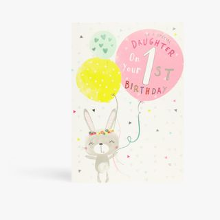 Scribbles special daughter 1st birthday card main image