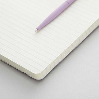 Agenzio Large Lined Notebook - Soft Lavender  main image