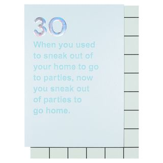 Sneaking out 30th birthday card main image