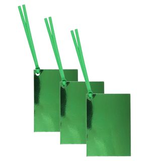 Folded green foil gift tags - pack of 10 main image