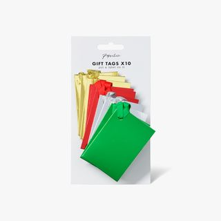 Multi foil folded gift tags - pack of 10 main image