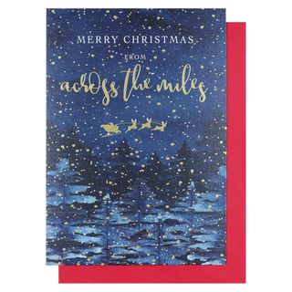 Starry across the miles Christmas card main image