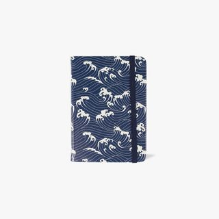 Agenzio Small Lined Notebook - Navy Waves  main image