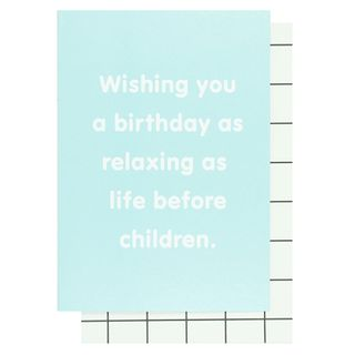 Relaxing birthday card main image